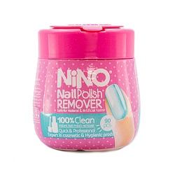 تصویر پد لاک پاک کن نینو قوطی 90 عددی Nino Nail Polish Remover Nino Nail Polish Remover